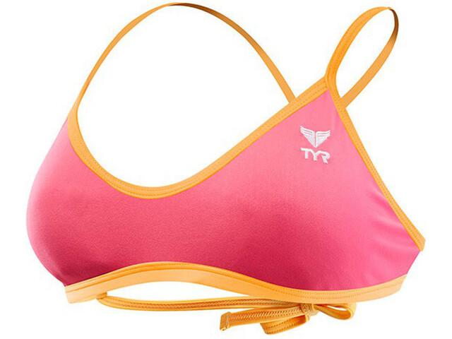 TYR Solid Crosscut Bikini Kobiety pomarańczowy/różowy